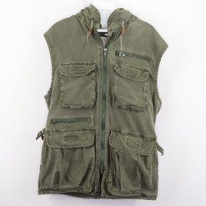 Vintage Banana Republic Safari Hooded Vest Jacket